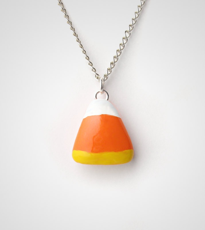 Candy Corn Necklace Pendant - Halloween via Etsy.