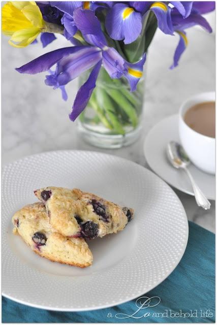 Lemon & blueberry scones