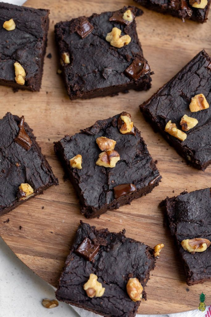 Easy Black Bean Brownies (Vegan + Oil and Gluten-free)