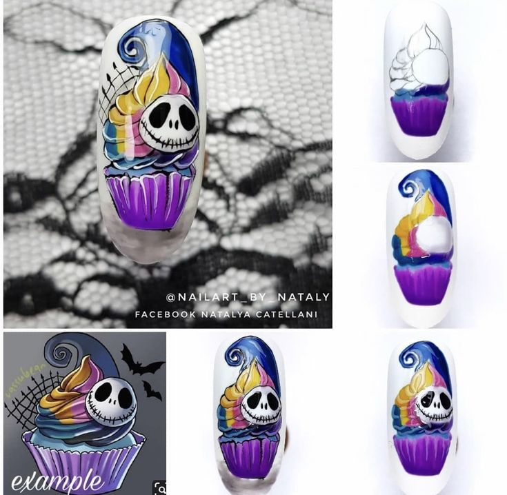 Pin by Sonia's Boards on Halloween Nails Step by Step in ...