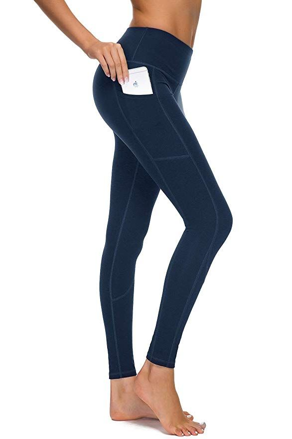 d1cee569f8 HOFI High Waist Yoga Pants for Women Side & Inner Pockets with Tummy  Control Sports Leggings