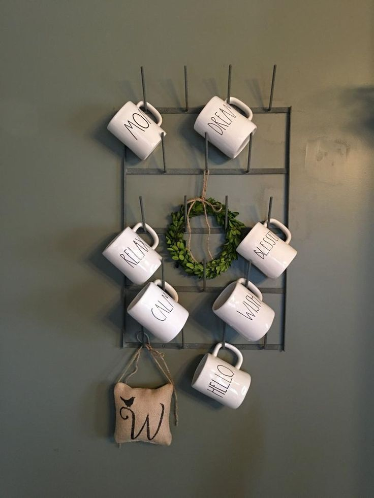 Best 25 Mug Rack Ideas On Pinterest Coffee Mug Wall
