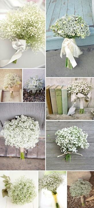 Gypsophila bouquet for my bridesmaids