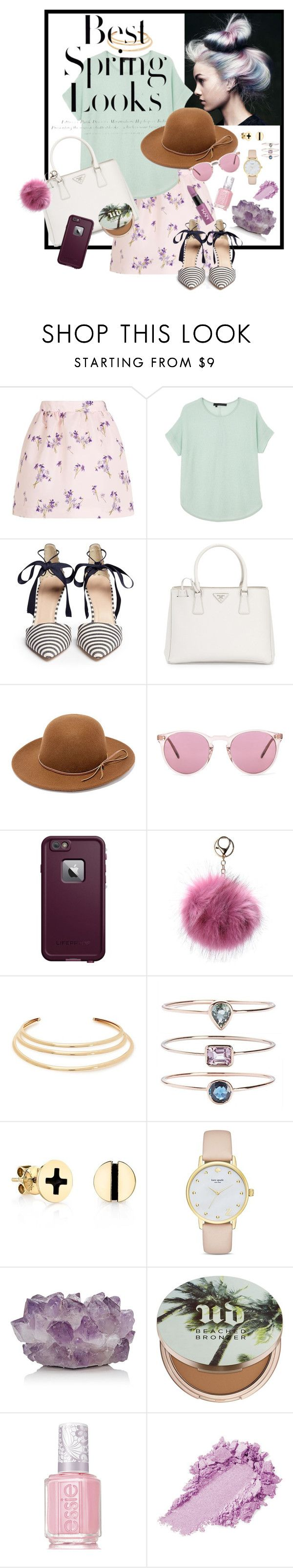 """How To Style: Pastels"" by fashion-mama-aquarius on Polyvore featuring RED Valentino, 360 Sweater, J.Crew, Prada, RHYTHM, Oliver Peoples, LifeProof, Kenneth Jay Lane, 19Fifth and Sydney Evan"