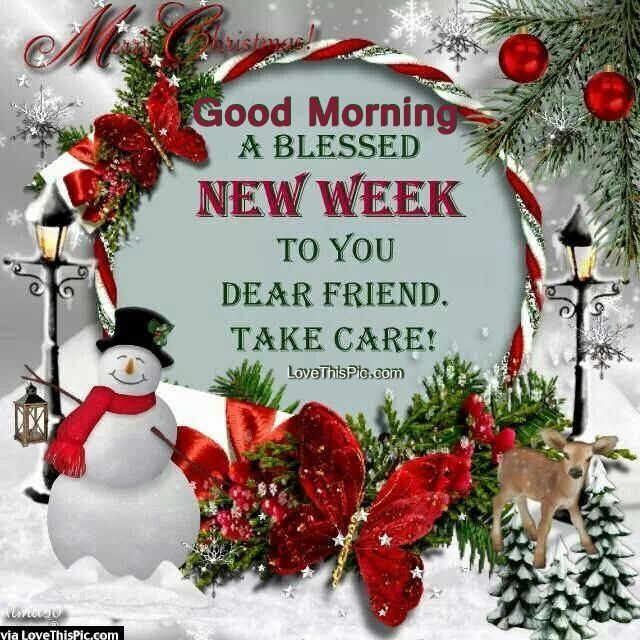 Christmas Good Morning Quotes: Good Morning A Blessed New Week Christmas Quote Monday