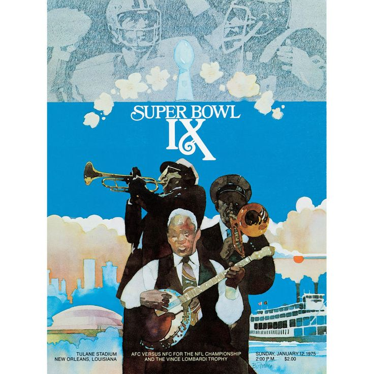 "Fanatics Authentic 1975 Steelers vs. Vikings 22"" x 30"" Canvas Super Bowl IX Program"