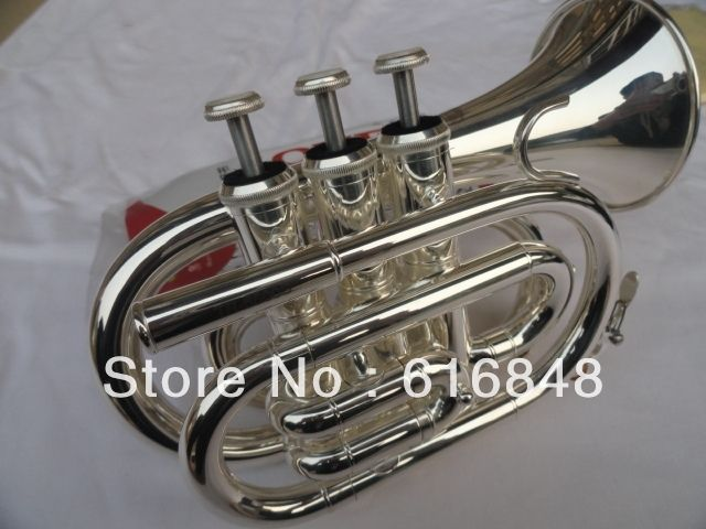 194.00$  Watch here - http://alir9h.worldwells.pw/go.php?t=718282201 - Factory wholesale-- Fidelity pocket trumpet surface silver brass instruments pocket trumpet 194.00$