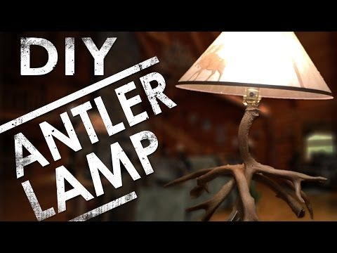 How to Make an Antler Lamp DIY   The Sticks Outfitter - YouTube