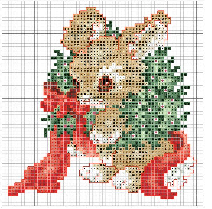 Little Rabbit [Cross Stitch - Christmas - Animals - Kids] [Pattern / Chart]