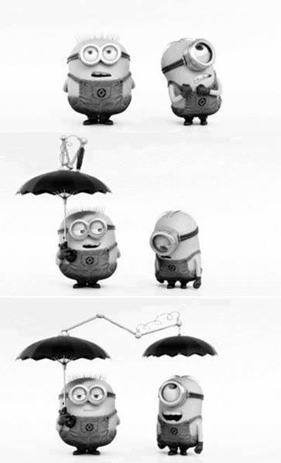 Who can't fall In love with the minions! They are soooo cute :D