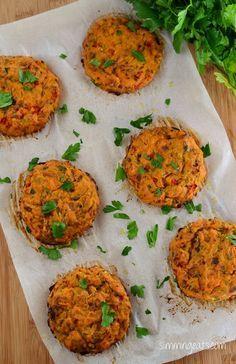 Slimming Eats Recipe - Tuna and Sweet Potato Patties - Gluten Free, Dairy Free, Whole30, Paleo, Slimming World and Weight Watchers friendly