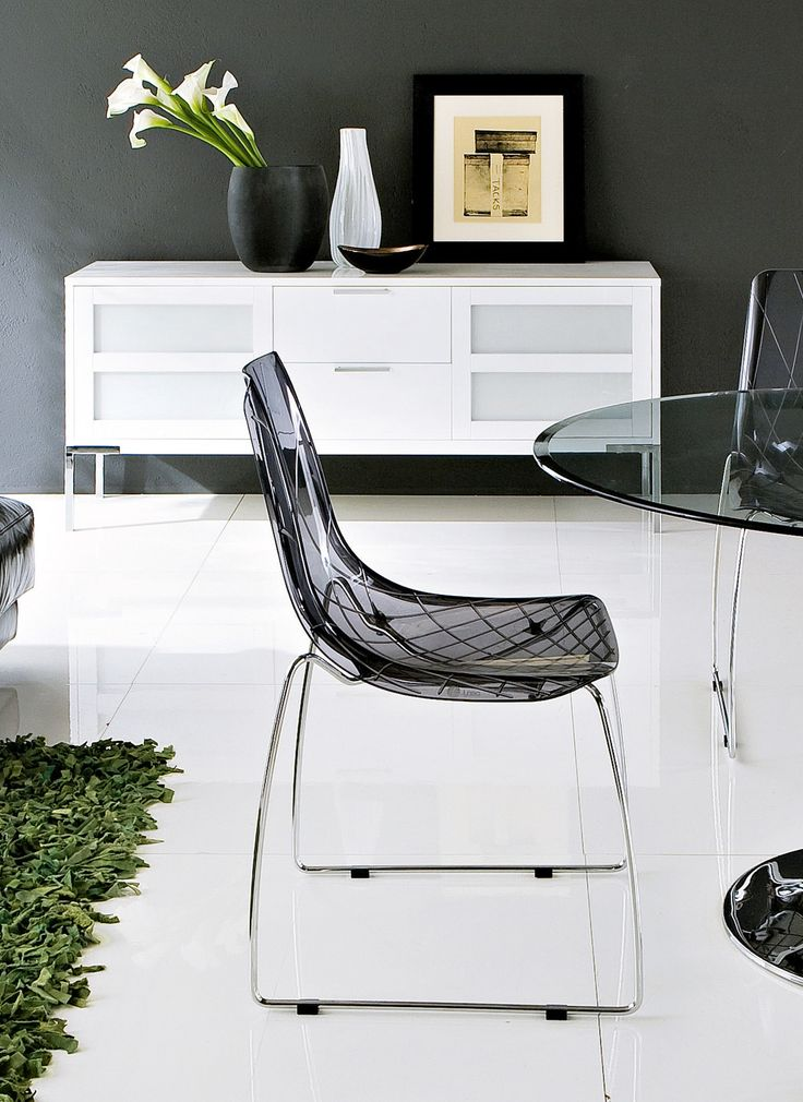 Lynea T Smoke Grey Dining Chair By DomItalia Furniture
