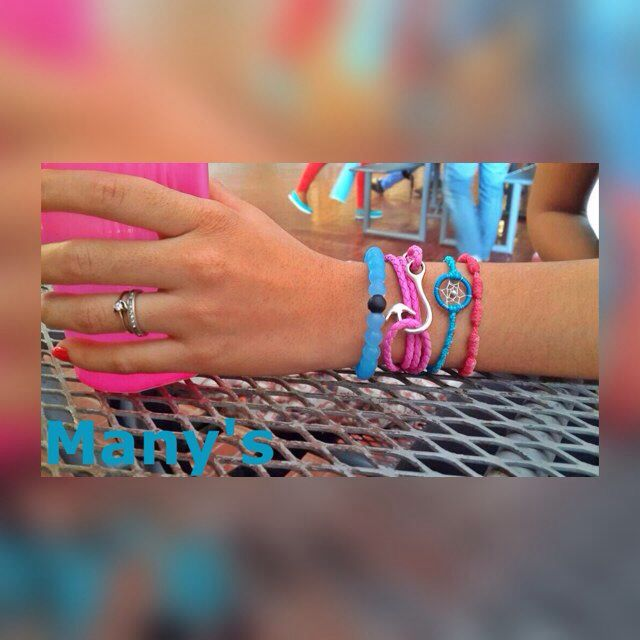 Pulsera, brazalete rosado para mujer de anzuelo!