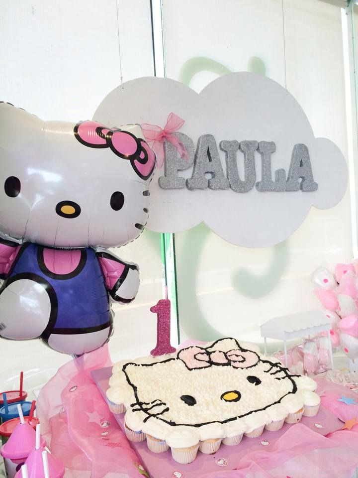 Kitty birthday cake Pastel de Kitty