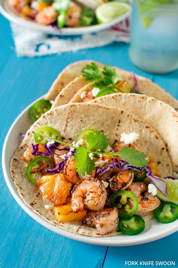 TRIED IT! Grilled Shrimp and Pineapple Tacos LOVE LOVE LOVE!  Another family favorite!  kp