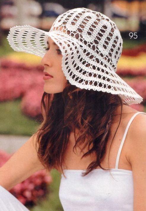 Patron Crochet Sombrero Ala Redonda - Patrones Crochet