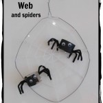 Boy Mama: how to make a spiderweb with friendly spiders- great as science craft or for Halloween