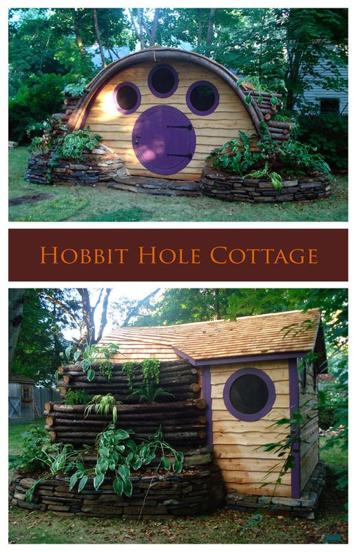 Cottages, Sheds, Saunas - Hobbit Hole playhouses, sheds, cottages, saunas, more!