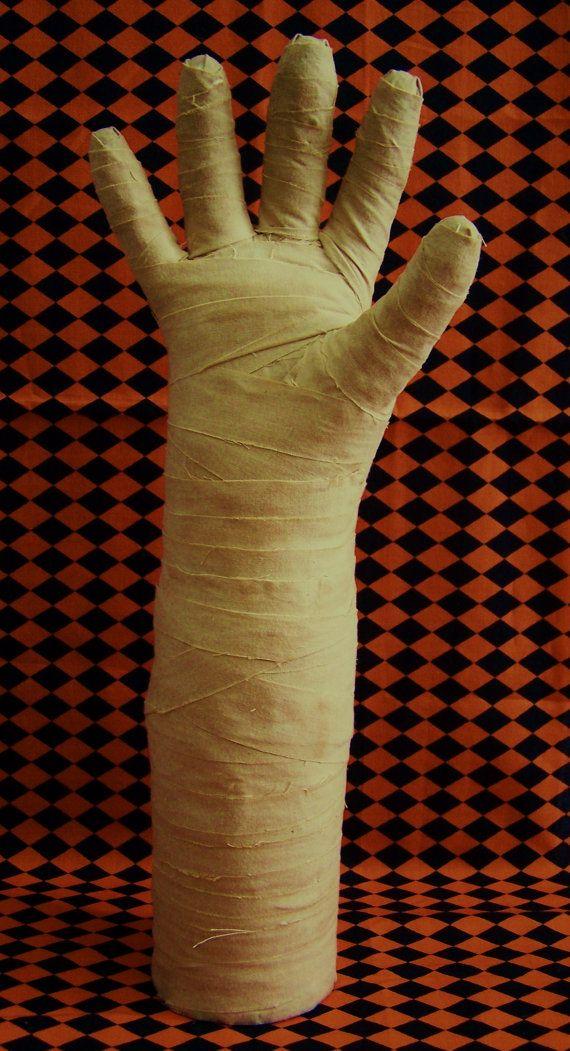 stuffed and wrapped dish glove = mummy hand ....:)