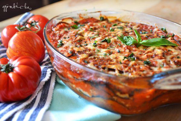 Parmigiana di melanzane   Csőben sült padlizsán #vegetarian