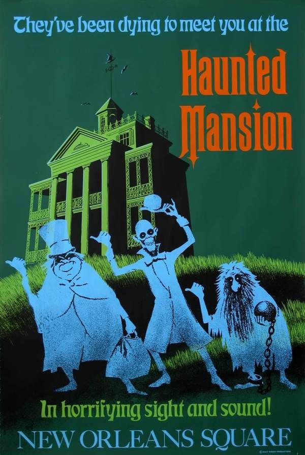 Publicity poster for Disneyland's 'Haunted Mansion' - c. 1970s