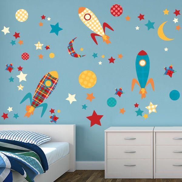 Rockets room theme wall decor stickerskidsroomkids