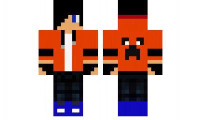 minecraft skin Boy-Orange-Cool