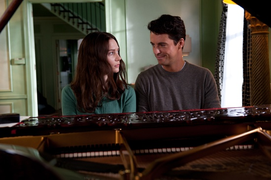 Mia Wasikowska as India and Matthew Goode as Uncle Charlie in Park Chan-wook's STOKER
