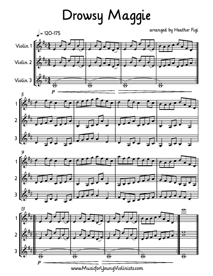 FIDDLE MUSIC: Drowsy Maggie arranged for 3 Violins. If you learn just ...
