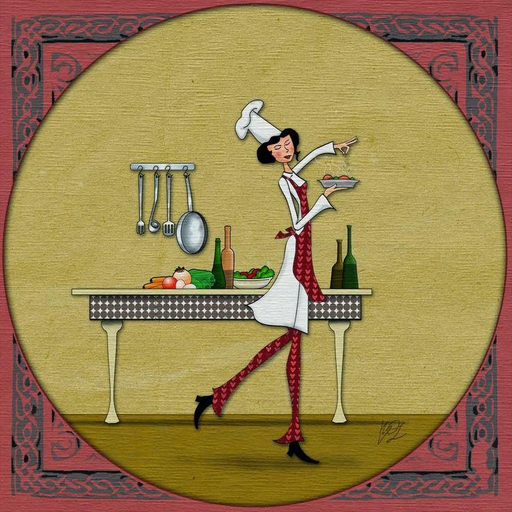 395 best images about cartoon chefs on pinterest - Dibujos de cocinas ...