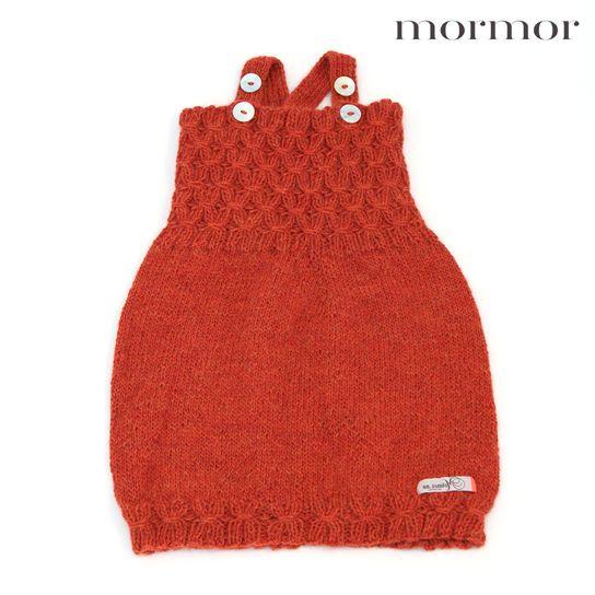 mormor.nuSmock dress orange rose offwhite heather. High quality knitwear for children. Danish design made in Denmark #babyclothing #kidsclothing #warmclothes #softknit #Alpaca
