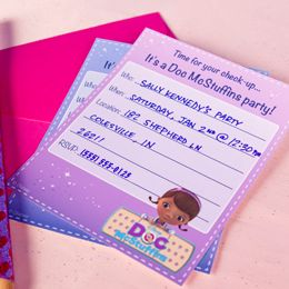 Printable Doc McStuffins party invitations from Family.com.