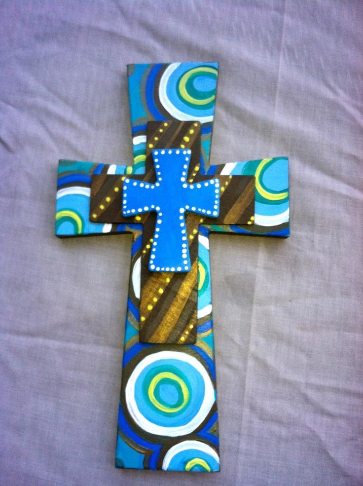 Handpainted Wooden Cross