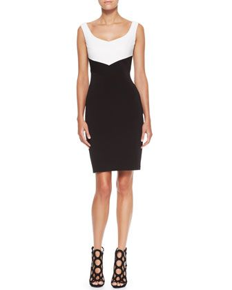Quilted Jersey Sleeveless Dress by Escada
