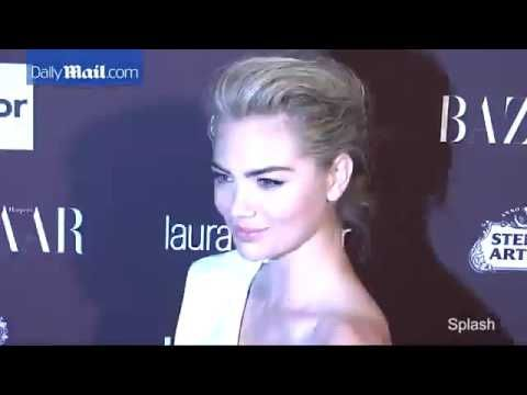 Kate Upton dazzles in white dress at Harper's Bazaar party