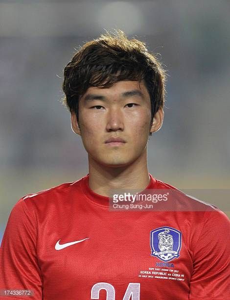 Jang HyunSoo of South Korea poses during the EAFF East Asian Cup match between Korea Republic and China at Hwaseong Stadium on July 24 2013 in...