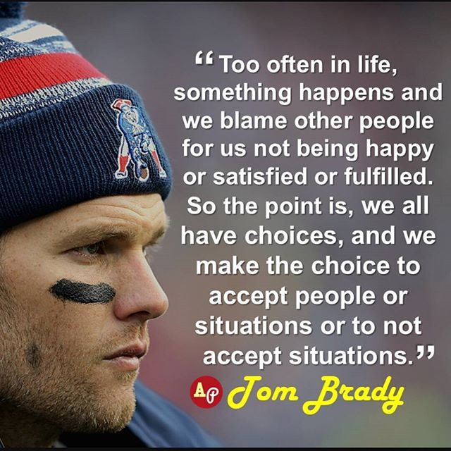 Tell 'em Tom. Too often in life, people choose to blame Tom Brady for the severe ass beatings their team takes. Fear the    #newengland #patriots #patsnation #doyourjob #bradythegoat