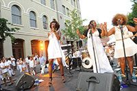 White Linen Night in New Orleans, August