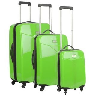 No Fear 3 Piece 4 Wheel Suitcase Set Lime £70 #suitcasesets #familyholidays