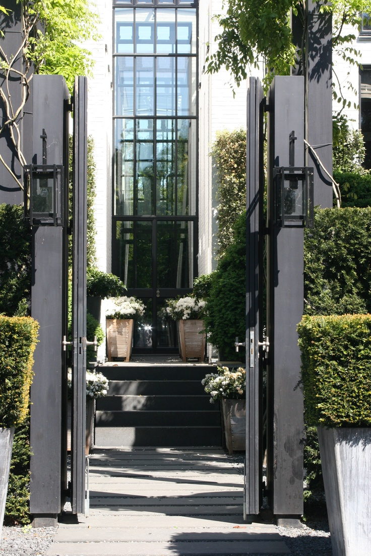 Well-maintained landscaping around entryways is a great door security tactic because it makes it more difficult for invaders to hide out on your property...in hopes of breaking in! http://thebulldogbar.com/