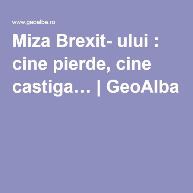 Miza Brexit- ului : cine pierde, cine castiga… | GeoAlba