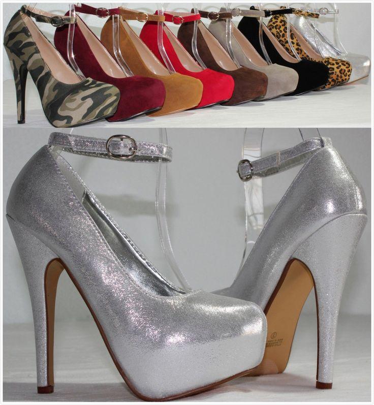Brand New Women's Fashion Sexy High Heel Ankle Strap Stilettos Platform  Pumps