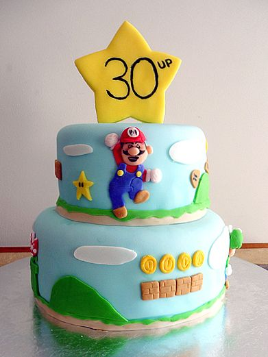 super mario birthday party ideas   Super Mario Brothers cake for a 30th birthday party for a huge video ...