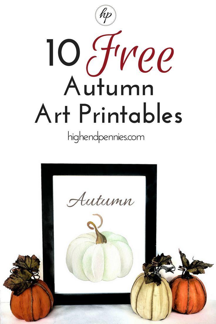 Free Fall Printables Fall Thanksgiving Fall Decor Fall