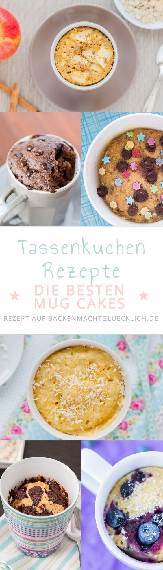 Hier gibt´s die besten Tassenkuchen-Rezepte! Für alle, die Lust auf Kuchen haben, aber keine Zeit. Unsere Mug Cakes sind alle innerhalb von 5 Minuten fertig. Und weil es sich um Mikrowellen-Kuchen handelt, braucht ihr nicht einmal einen Ofen. In der Tassenkuchen-Sammlung findet ihr u.a. Schokokuchen aus der Tasse, Tassenkuchen mit Kokos, Apfel-Tassenkuchen, Low Carb Mug Cakes und Co | www.backenmachtgluecklich.de