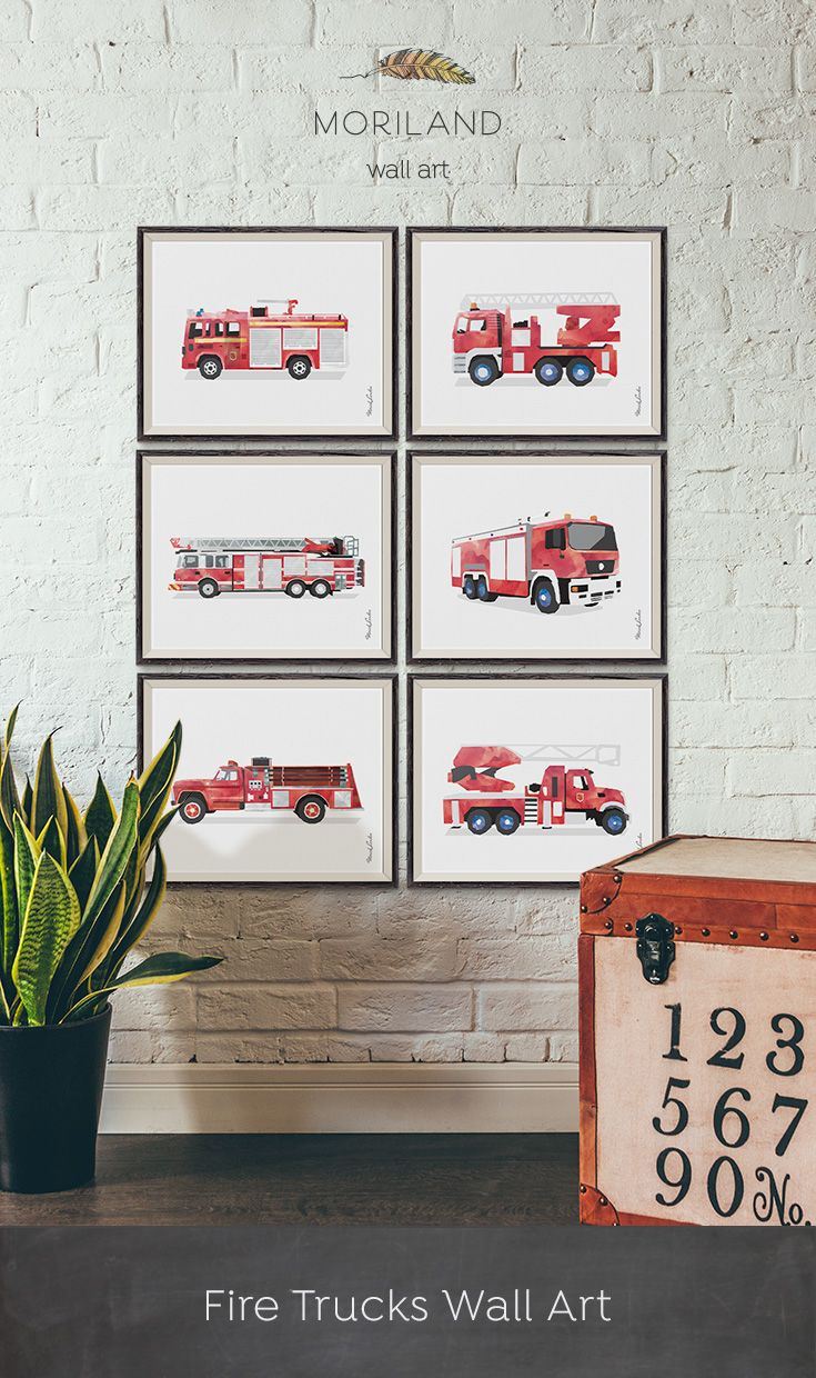 Fire Truck Wall Art, Fire Engine Print, Fire Truck Printable, Boys Room  Decor, Kids Transportation, Rescue Vehicle Print, Ladder Truck Printable,  ...