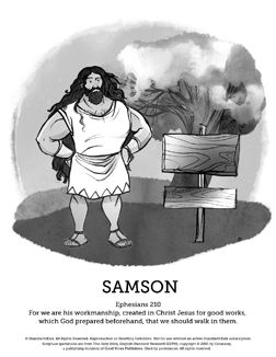 Samson Bible Lesson for Children - Fun Crafts for Kids and ...