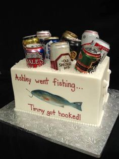 fish grooms cake on Pinterest | Fishing Cakes, Fishing and Groom Cake