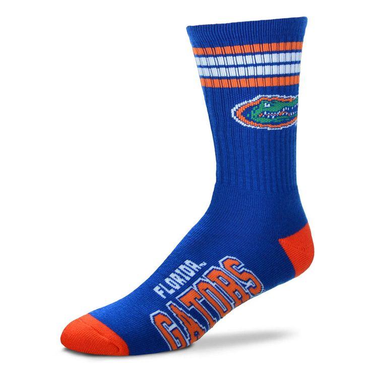 Men's For Bare Feet Florida Gators 4-Stripe Deuce Performance Crew Socks