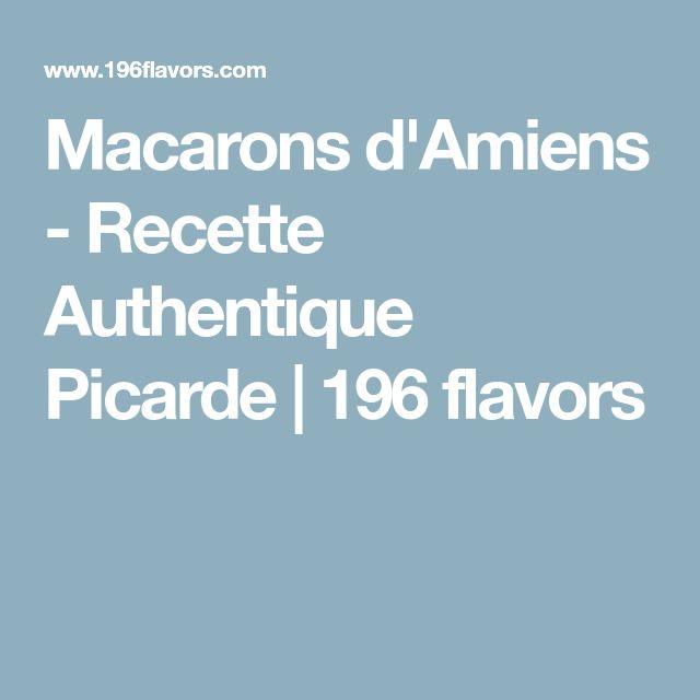 Macarons d'Amiens - Recette Authentique Picarde | 196 flavors
